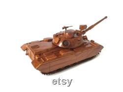 M48 Patton modèle de char Modèle de char militaire en bois 14 x 8 x3