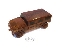 MODÈLE HUMMER H3 Fait à la main en bois Modèle SUV 16