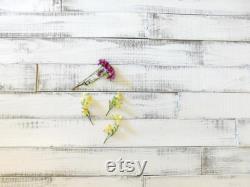 Mur en bois shiplap, mur rustique d accent, planches de bois montrées en blanc pur