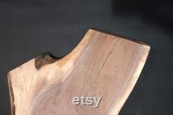 Natural Live Edge Black Walnut Entrejambe Dalle Fine Furniture Grade