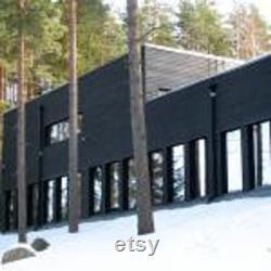 OFFRE SPÉCIALE Black Painted Exterior Feather Edge sciage FSC Certified dans diverses longueurs 4.2mtr et 4.8mtr bundles (4pces)