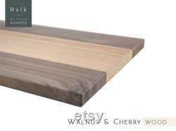 Pack de planches à découper multi-essences de bois, planches à découper en gros 10,5 X 16 x 3 4 , (noix et cerise), planches à blanc, ébauches laser, bricolage