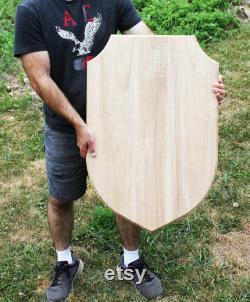Plaque d affichage d épée de bouclier en bois énorme de XL. Pyrographie Taxidermie à bois