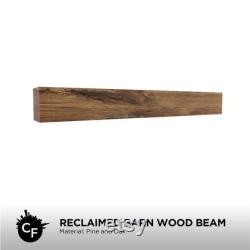 Poutre en bois de grange récupérée (no stain clear finish)