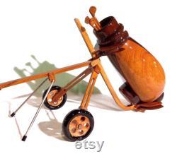 Sac de golf Club de golf Sac de golfeur Stand bag golfer Sac à stand Alpha pour golfeur 6 x 4 x 6 Modèle en bois fait à la main