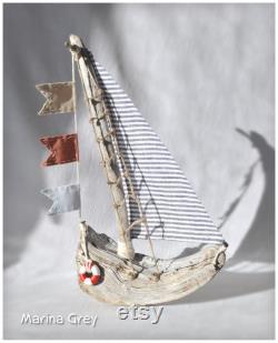 Sailboat Driftwood Art, Bateau en bois, Cadeau nautique