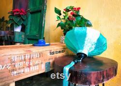 Set 4 Lanterne en soie de bambou 60cm Forme et couleur de mélange fait sur commande facile de mettre l'ampoule à l'intérieur pour l'éclairage