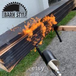 Shou Sugi Ban Yakisugi Charred Wood France Black Carbon Reclaimed Hardwood 2 x6 Choisissez la longueur