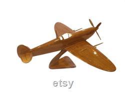 Supermarine Spitfire le seul chasseur construit tout au long de la Seconde Guerre mondiale Avion en bois fait à la main 14 x15 x8
