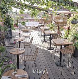 Table ronde en bois de teck pour faire votre propre table ronde Table ronde Sur table carrée intérieure et extérieure Table de bateau dessus