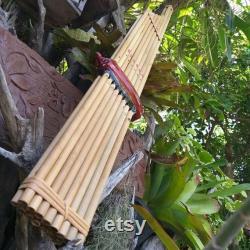Thai Lao Khaen Bamboo Double Silver Reed Isan Mouth Organ Musical Instrument Am
