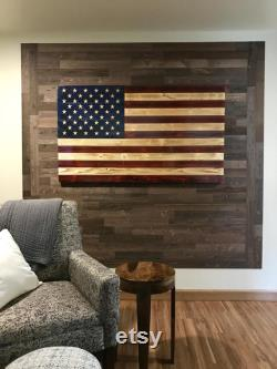 Timberchic DIY Reclaimed Wooden Wall Planks Simple Peel and Stick Application. (Freestone)