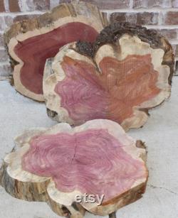 Tranche de bois de cèdre, 16 18 x 4 d'épaisseur, base de gâteau, mariage grange, mariage de campagne, grande tranche de bois pour la pièce maîtresse, dessus de table diy