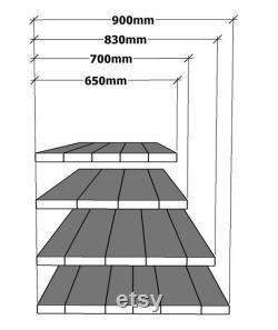 Travail colled bois bois récupéré bois solide Used Look V1MD surface lissée, sans couture