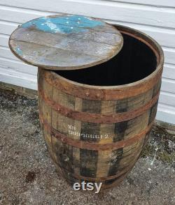 Whiskey récupéré couvercle baril de whisky enlevé fût bourbon ouvert arbre de bain de glace arbuste planteur