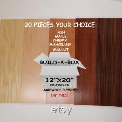 buildAbox 20pcs Upick Hardwood Contreplaqué Préfini des deux côtés 12 x20 Laser Glowforge bois 20 feuilles proofgrade Buildabox qualité de preuve