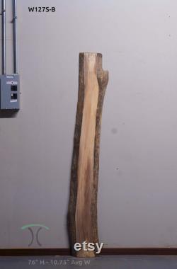 inachevé Noir Noyer bord vivant bord naturel bord de four séché machine poncée dalle de bois franc solide W127S
