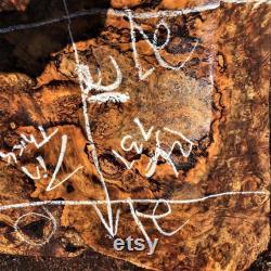 tournement de bol Bloc de rot de Myrtle bois d artisanat bL737